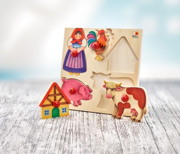 Selecta Puzzle Bauernhof, 5 Teile Spielzeug