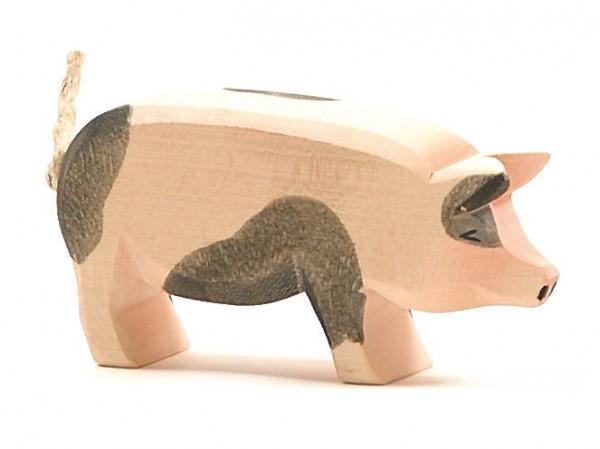 Ostheimer Figur Schwein Kopf hoch gefleckt Spielzeug