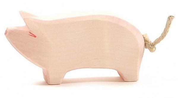 Ostheimer Figur Schwein Rüssel hoch Spielzeug