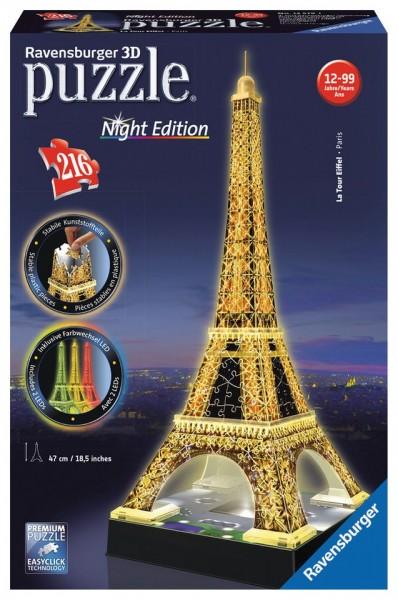 Ravensburger 3D Puzzle Eiffelturm bei Nacht Spielzeug