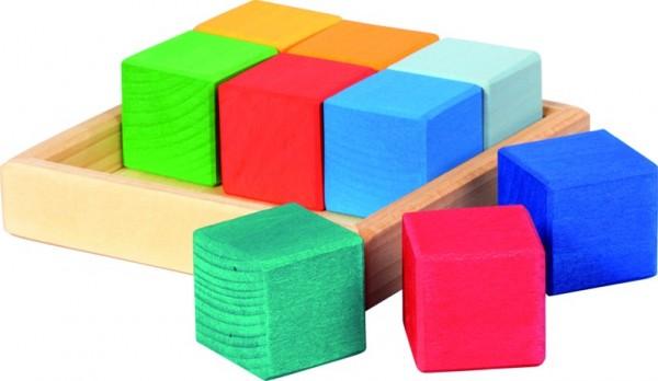 nic Baukasten Quadrat Würfel 6 Teile Spielzeug