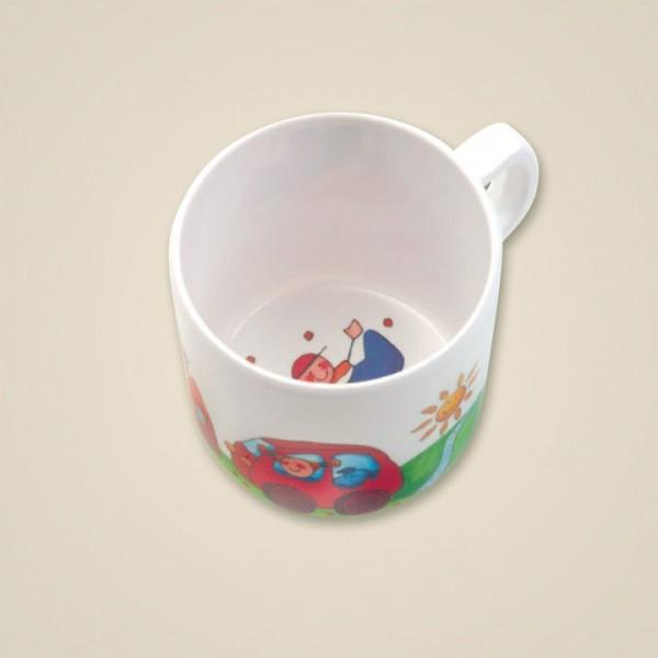 """Rundum Tasse """"Flo + Fine unterwegs"""" Spielzeug"""