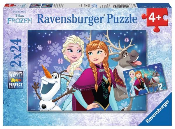 Ravensburger Puzzle 2x24 Teile Die Eisprinzessin Nordlichter Spielzeug