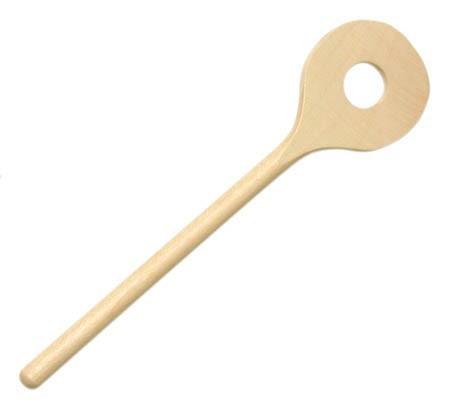 NIC Holzlöffel 18 cm rund/gelocht Spielzeug