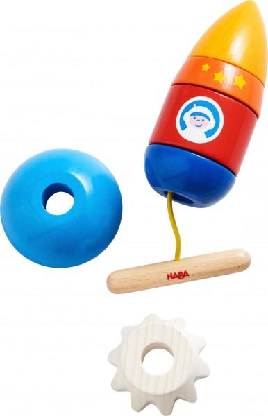 Haba Fädelspiel Rakete Spielzeug