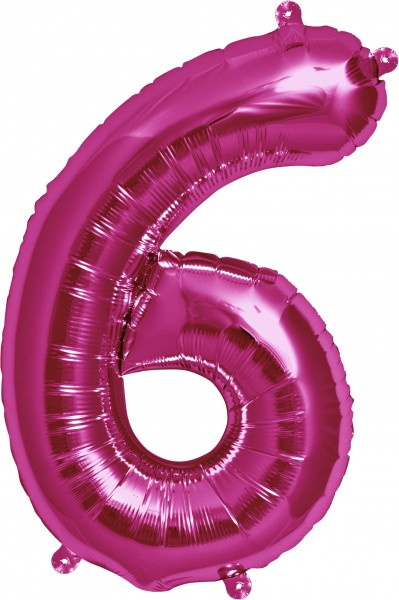 Aurich Folienballon 6 magenta Spielzeug
