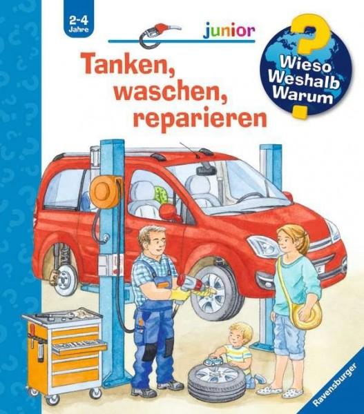 Ravensburger WWW junior 69: Tanken, waschen, reparieren Spielzeug