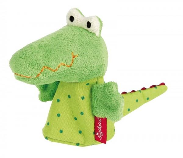 Sigikid Fingerpuppe Krokodil Spielzeug