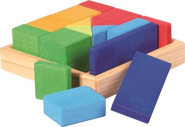 NIC Baukasten Quadrat Formen-Mix Spielzeug