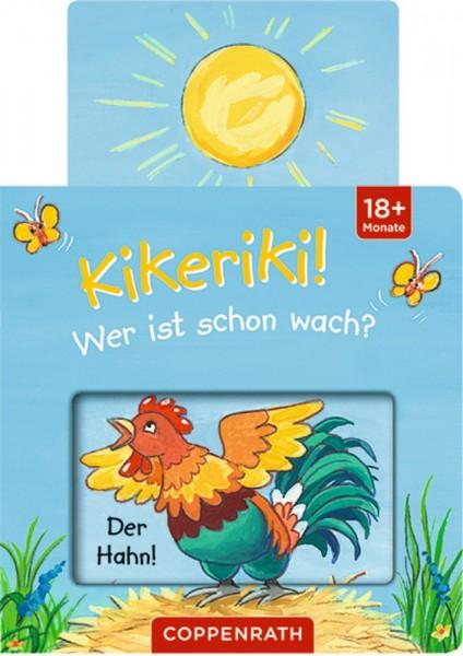 Die Spiegelburg Mini-Pappe mit Schiebern: Kikeriki! Wer ist schon wach? Spielzeug