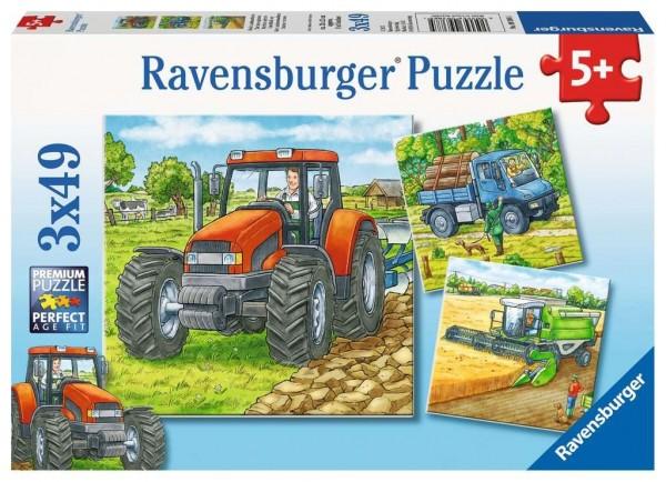 Ravensburger Grosse Landmaschinen Puzzle 3 X 49 Teile Spielzeug