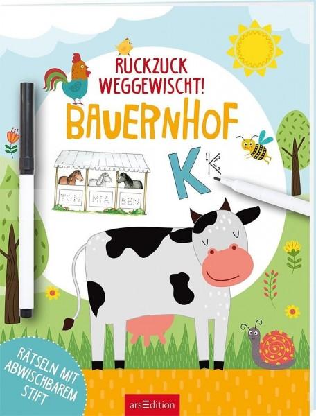 ars Edition Ruckzuck weggewischt! Bauernhof Spielzeug
