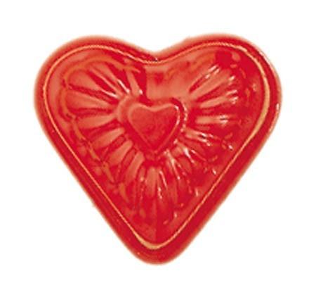 NIC Sandspielzeug Relief-Sandform Herz, rot Spielzeug