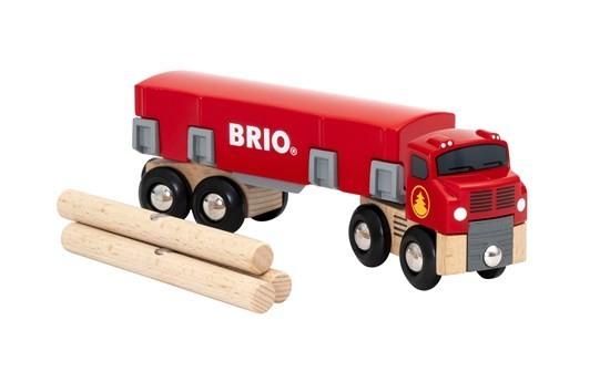 Brio Holztransporter m. Magnetladu Spielzeug