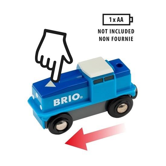 Brio Blaue Batterie Frachtlok Spielzeug
