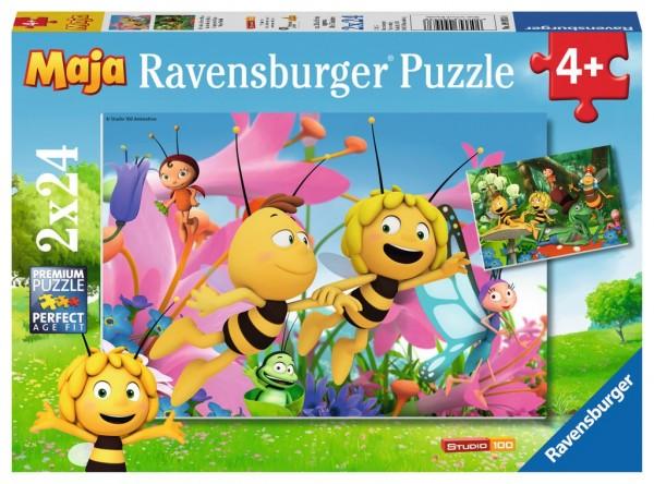 Ravensburger Puzzle 2x24 Teile Die kleine Biene Maja Spielzeug