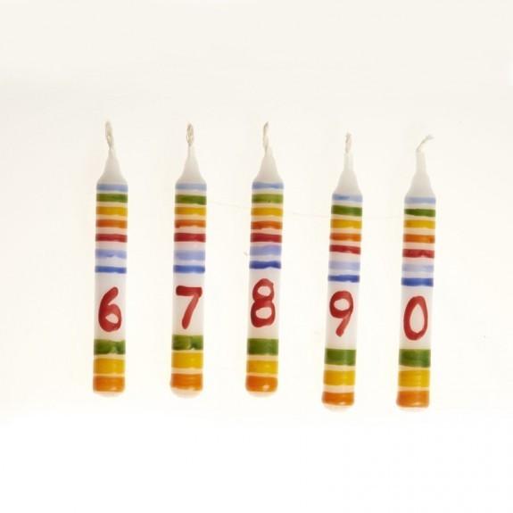 NIC Kerze Ringelbunt Zahl 0 Spielzeug