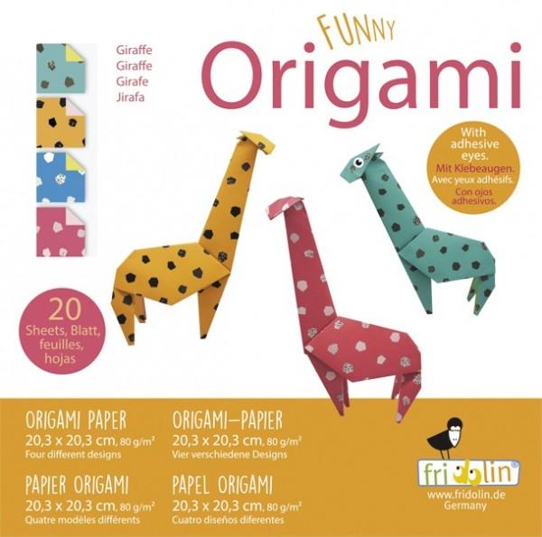 Fridolin Funny Origami Giraffen 20x20 Spielzeug
