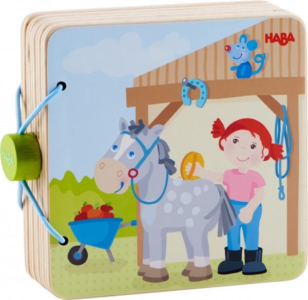 Haba Holz-Babybuch Reiterhof Spielzeug