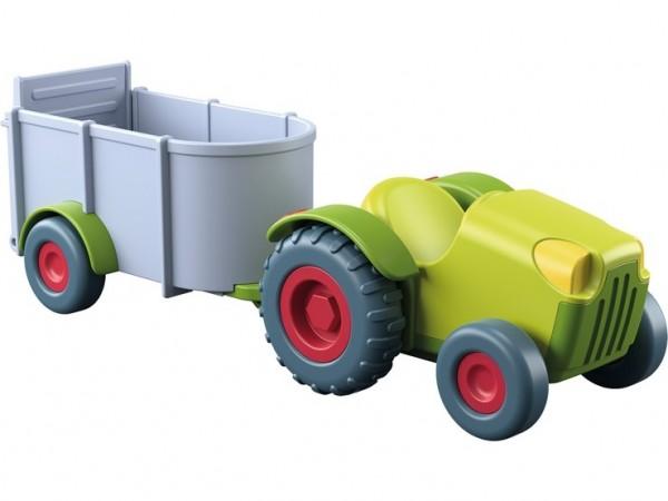 Haba Little Friends Traktor mit Anhänger Spielzeug