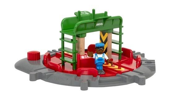 Brio Lok-Drehscheibe mit Kontrollbrücke Spielzeug