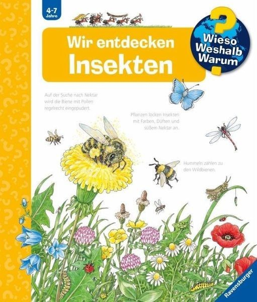 Ravensburger Buch WWW39 Wir entdecken Insekten Spielzeug