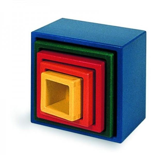 NIC Steckwürfel bunt Spielzeug