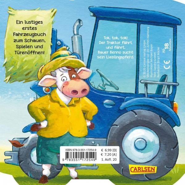 CARLSEN Mein kleiner Fahrzeugspaß: Tok, tok, tok, der Traktor (Pappenbuch) Spielzeug
