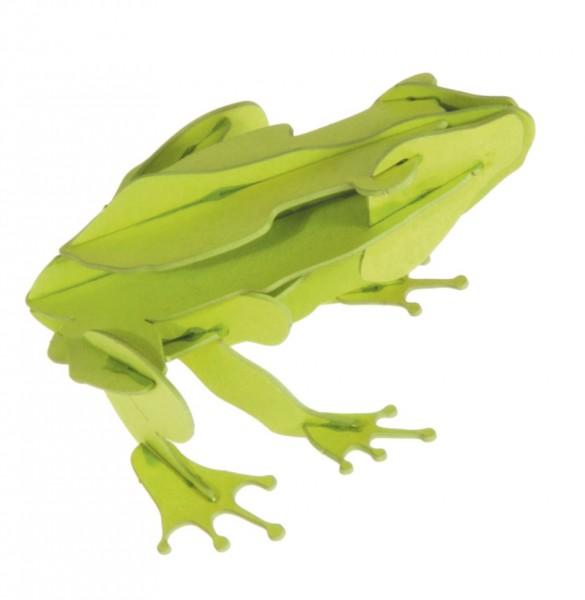 Fridolin 3D Papiermodell Frosch Spielzeug