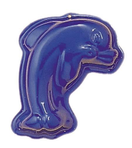 NIC Relief-Sandform Delphin, blau Spielzeug