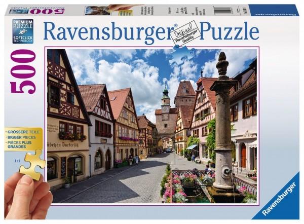 Ravensburger Puzzle 500 Teile Rothenburg ob der Tauber Spielzeug