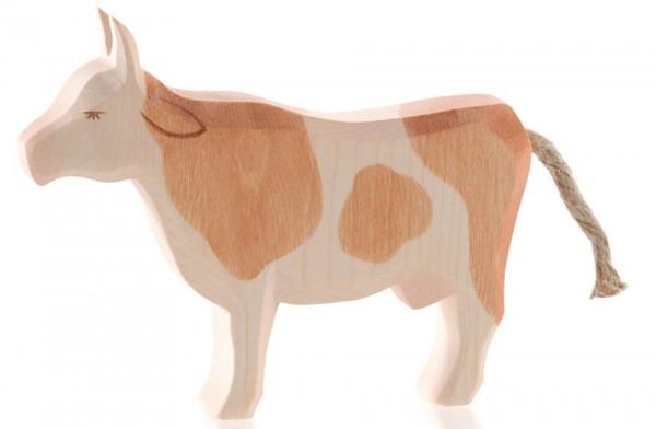 Ostheimer Figur Kuh braun stehend Spielzeug