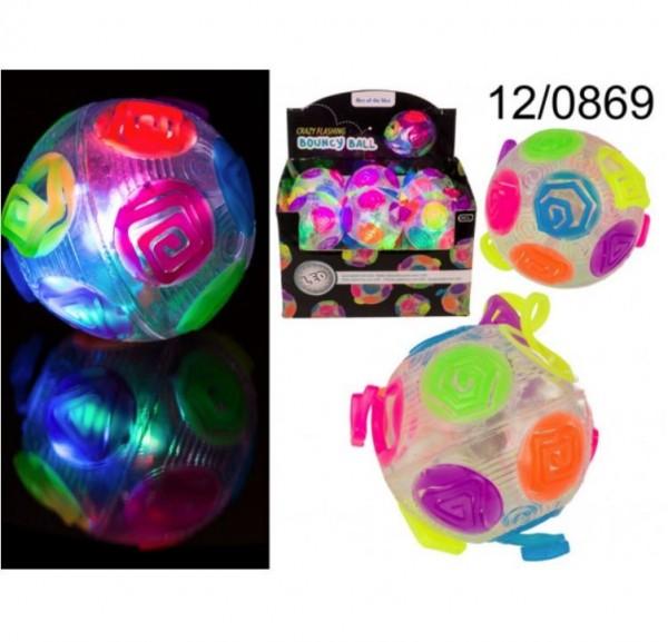 Out of the Blue Springball, Crazy Flashing, Regenbogen, ca. 8 cm, Spielzeug