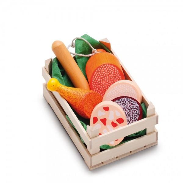 Erzi Sortiment Wurstwaren klein Spielzeug