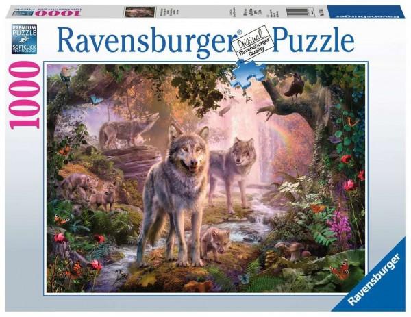 Ravensburger Puzzle - Wolfsfamilie im Sommer - 1000 Teile Spielzeug