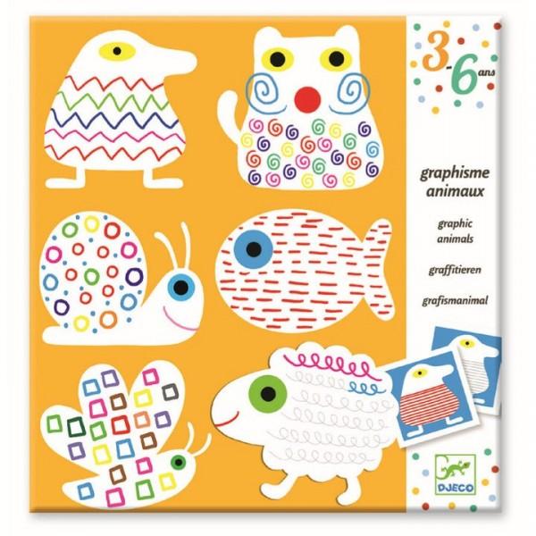 DJECO Erste Sticker Tiere anmalen Spielzeug