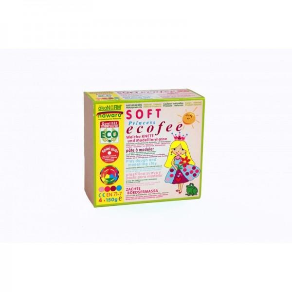 "ökoNorm SOFT-Knete nawaro, 4er Set M ""Eco Princess"" - rosa, pink, violett, türkis Spielzeug"