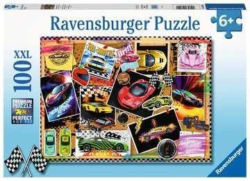 Ravensburger Spiele Ravensburger Kinderpuzzle - Rennwagen Pinnwand Spielzeug