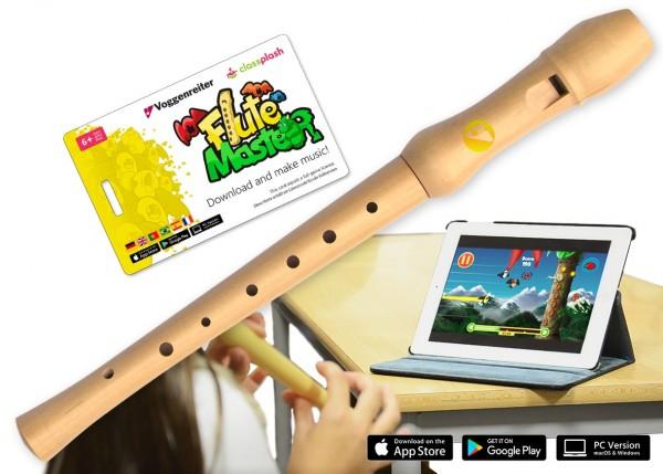 Voggenreiter Flute Master (App) mit Schulblockflöte (dt. GW) Spielzeug