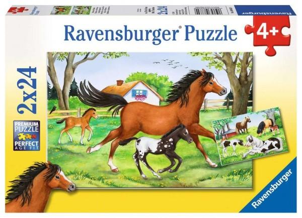 Ravensburger Welt der Pferde Puzzle 2 X 24 Teile Spielzeug