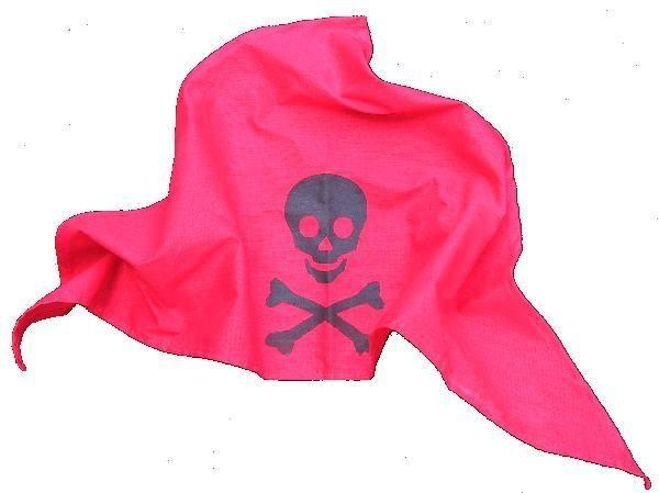Bestsaller Piraten -Kopftuch rot Spielzeug