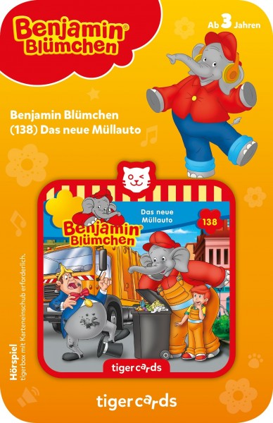 Tigermedia tigercard - Benjamin Blümchen - Folge 138: Das neue Müllauto Spielzeug